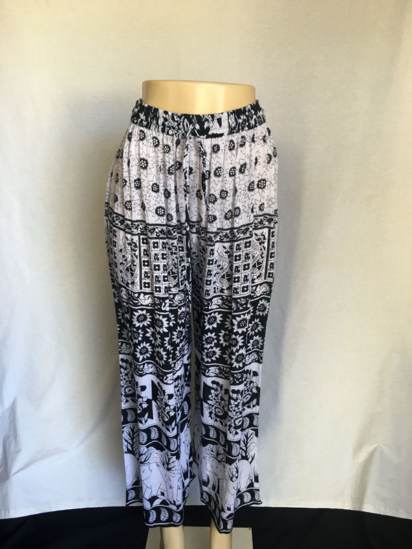 Black/White Printed Cupri print #9