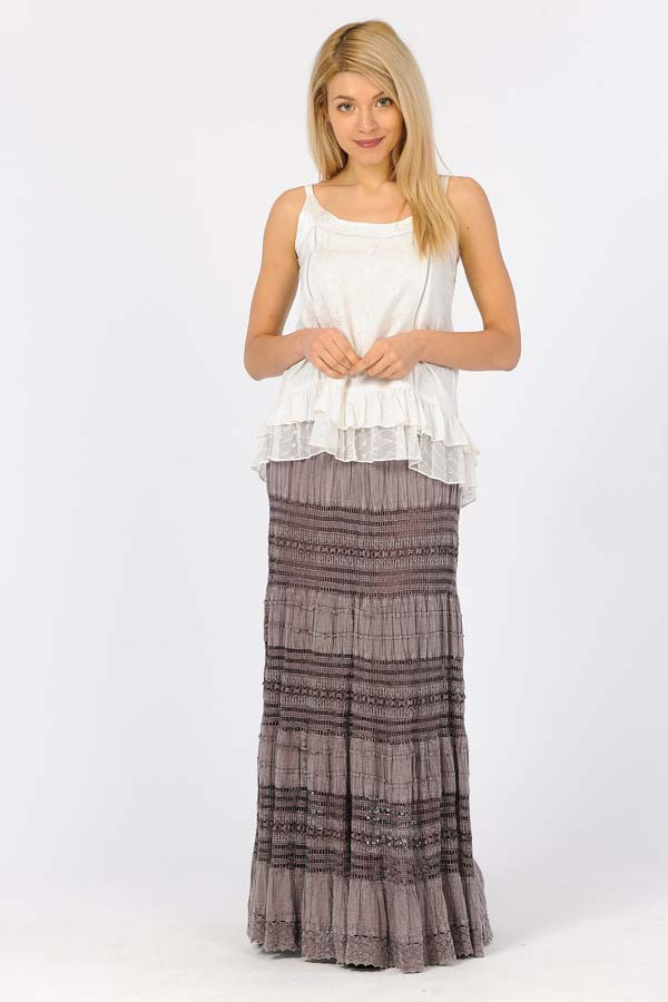 100% Cotton Bubble Skirt - Mauve