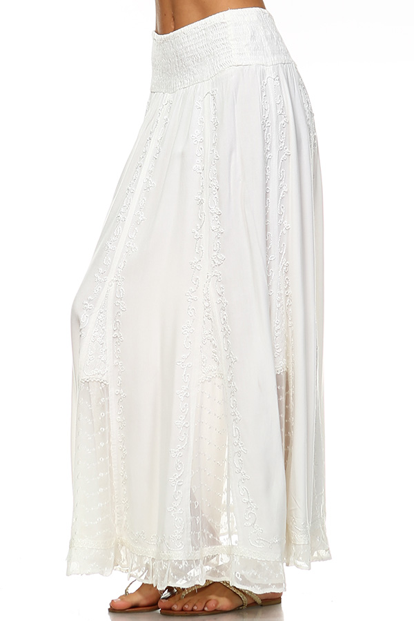 Stone Wash Skirt - Ecru