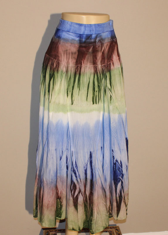 100% Cotton Tie Dye Skirt - Multi-Color