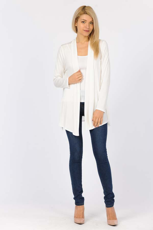 Copy of 95% Rayon & 5% Spandex Cardigan - Natural
