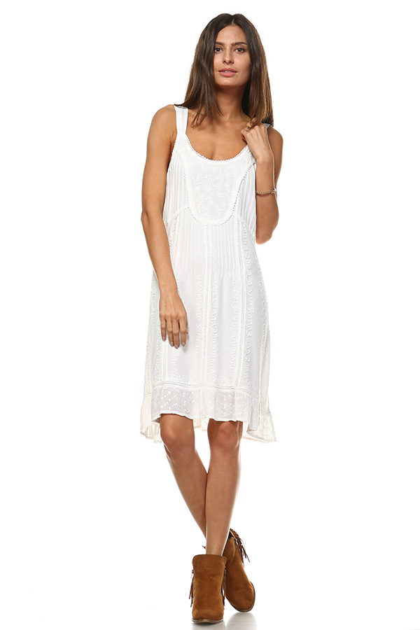 Sand Wash Tank Dress - Ecru