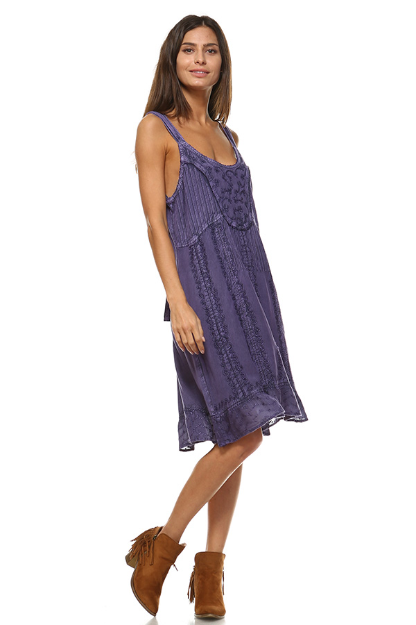 Sand Wash Tank Dress - Purple