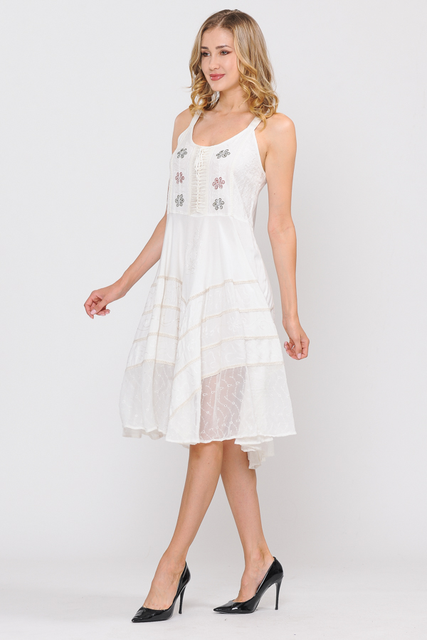 Short Sandwash Strap Dress - Natural