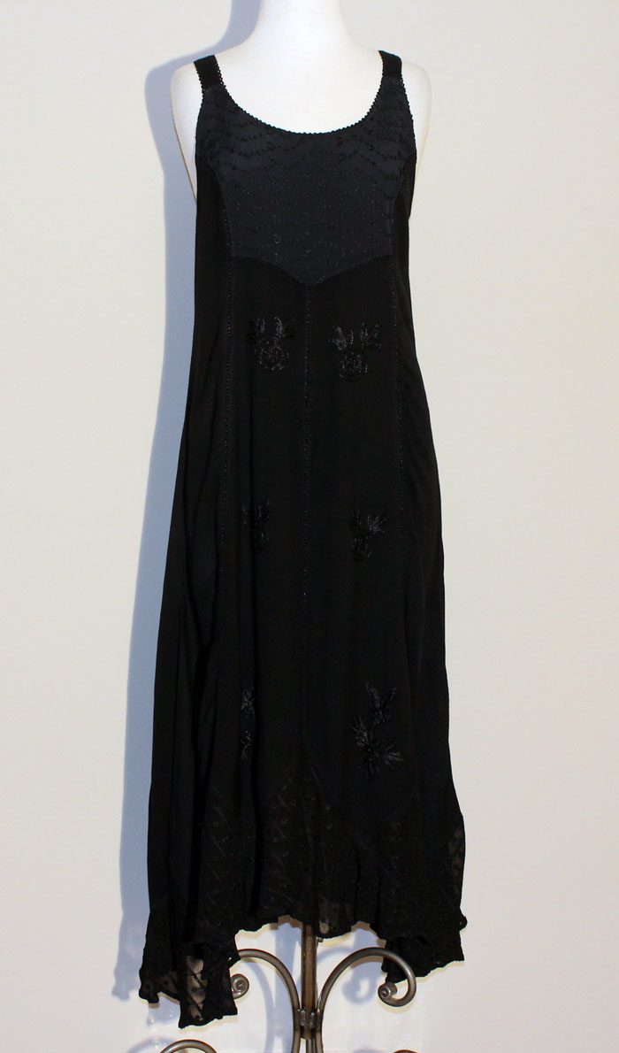 Long Sand Wash Tank Dress - Black
