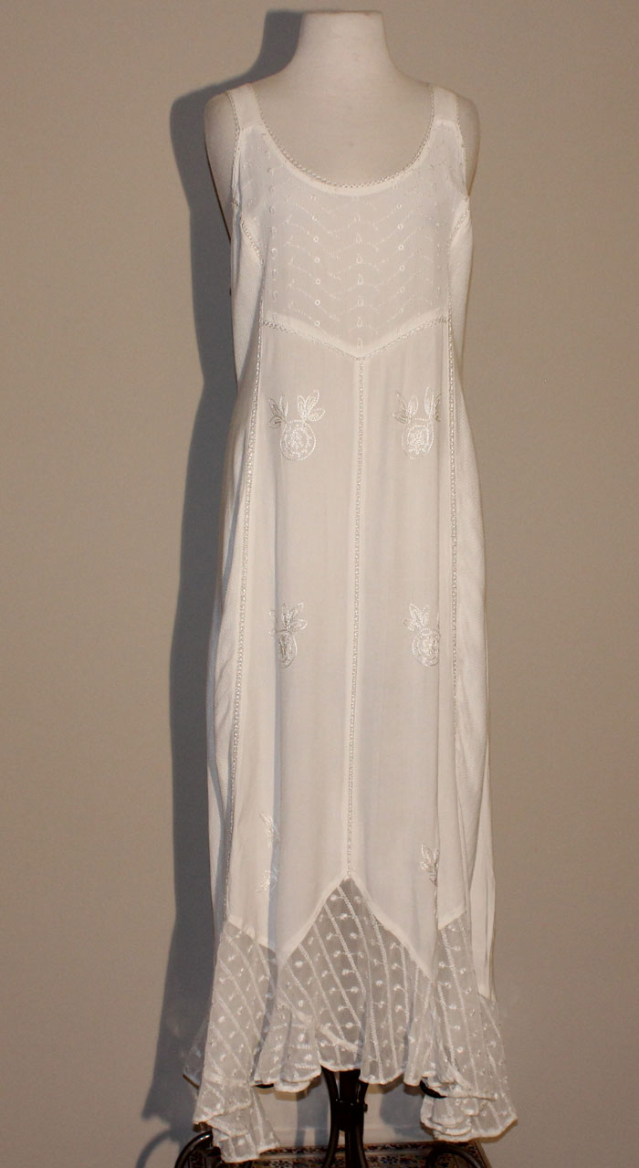 Long Sand Wash Tank Dress - Ecru