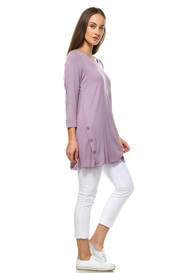 Long Sleeve Tunic Top - Lilic