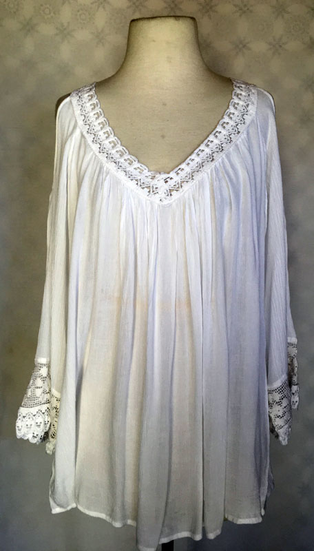 Full Sleeve Tunic Top - White