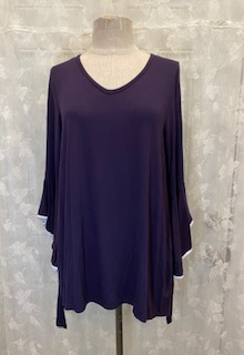 TOP BELL SLEEVES EGGPLANT