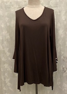 TOP BELL SLEEVES BROWN