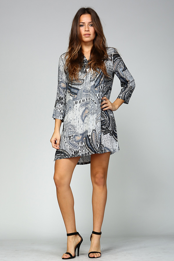 Parsley Print Tunic Top