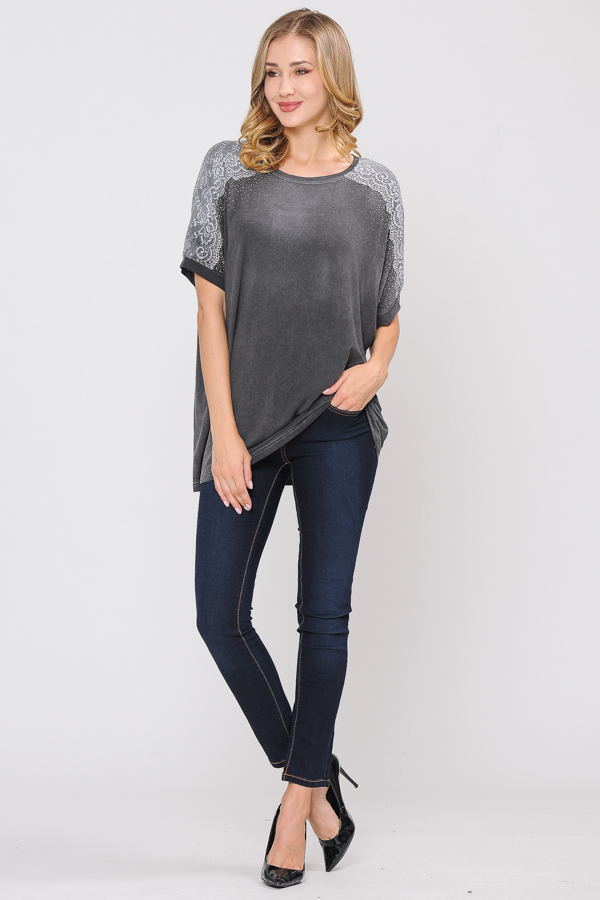 TrimTunic Top - Charcoal